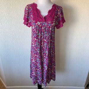 April Cornell  Dress Chinese Flowers, Summer Dress